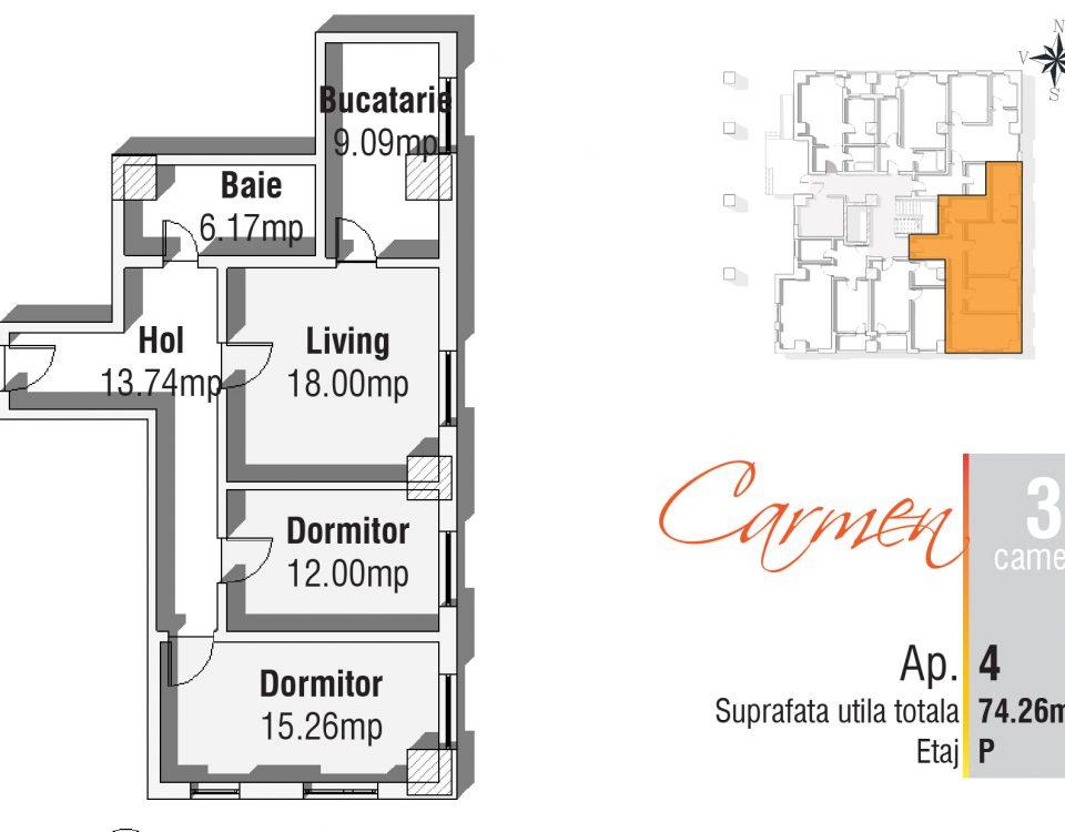 Apartament 3 camere Iasi